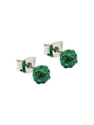 Серьги Kameo-bis. Цвет: зеленый, серебристый