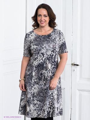 Платье Classic Style. Цвет: серый, бежевый