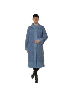 Пальто Cassidy. Цвет: голубой