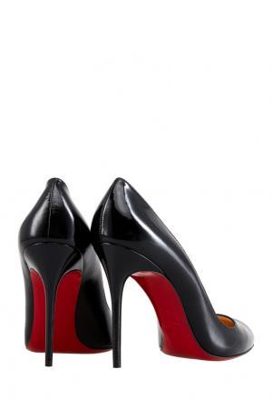 Туфли из лакированной кожи Corneille 100 Christian Louboutin. Цвет: черный