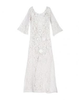 Длинное платье ANJUNA. Цвет: белый
