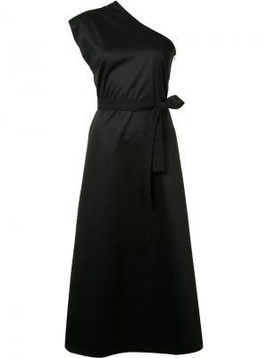 Платье на одно плечо Tome. Цвет: чёрный