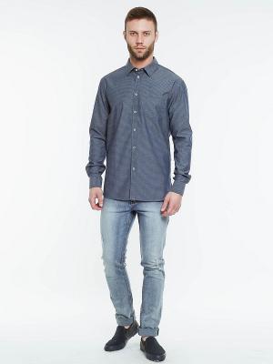 Рубашка INCITY. Цвет: темно-синий, серый