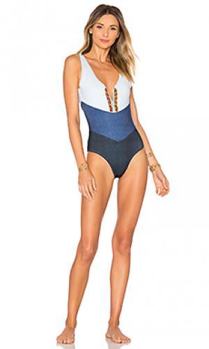 Слитный купальник mezclilla Agua Bendita. Цвет: синий