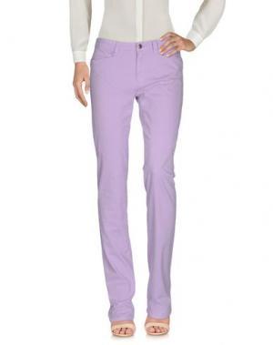 Повседневные брюки 9.2 BY CARLO CHIONNA. Цвет: сиреневый