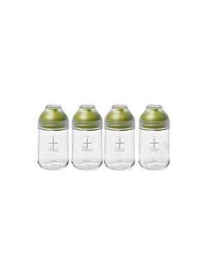 Бутылка Glasslock IG-775 с силик. крышкой 4*350мл. Цвет: зеленый