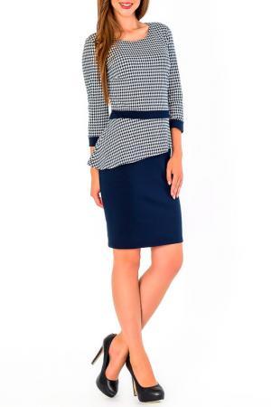Платье S&A style. Цвет: сине-белый