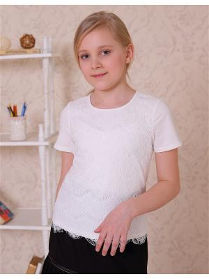 Блузка трикотажная LisaWeta. Цвет: белый