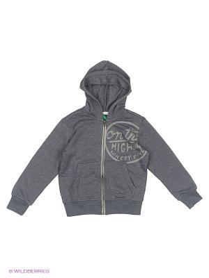 Куртка United Colors of Benetton. Цвет: серый, бронзовый, серый меланж