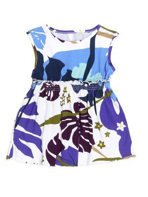 Блуза PETITE MARI. Цвет: синий, голубой