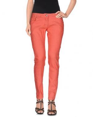 Джинсовые брюки DEKKER. Цвет: ржаво-коричневый