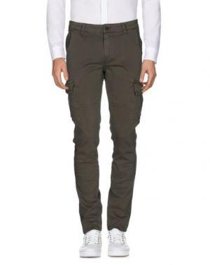Повседневные брюки STILOSOPHY INDUSTRY. Цвет: зеленый-милитари