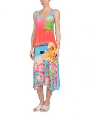 Пляжное платье MISS NAORY. Цвет: лазурный