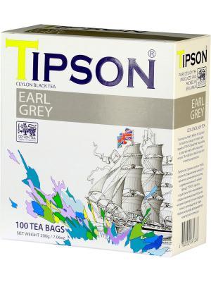 Чай черный цейлонский с бергамотом Эрл Грей, 100 пак*2 г. Tipson. Цвет: черный