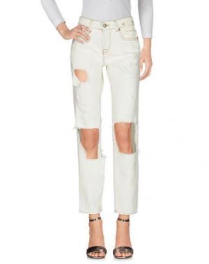 Джинсовые брюки R13. Цвет: зеленый