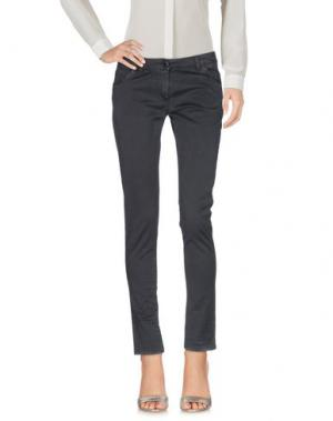 Повседневные брюки ANIYE BY. Цвет: свинцово-серый