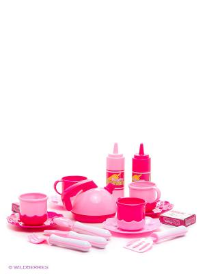Набор посуды Готовим сами, чемодан VELD-CO. Цвет: розовый, белый