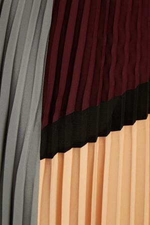 Плиссированная юбка color blocking Adolfo Dominguez. Цвет: multicolor