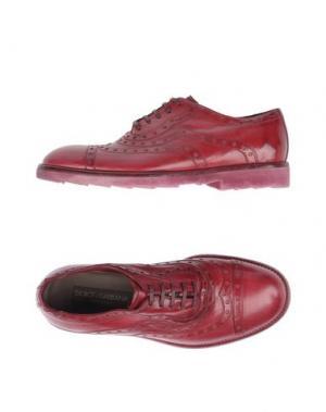 Обувь на шнурках DOLCE & GABBANA. Цвет: пурпурный