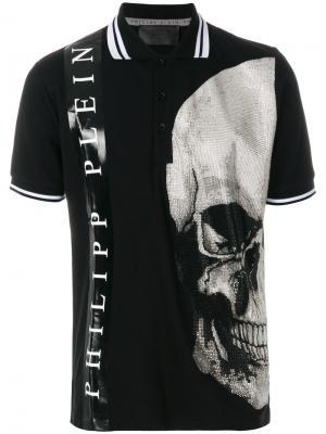 Рубашка-поло Obaku Philipp Plein. Цвет: чёрный