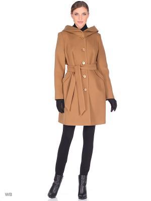 Пальто XP-GROUP. Цвет: коричневый