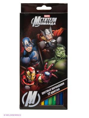 Цветные карандаши Marvel Мстители. Цвет: черный
