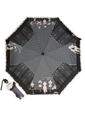 Зонт складной EMME M383B-OC Fashion Nero. Цвет: черный