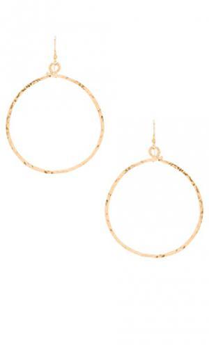 Серьги echo Mimi & Lu. Цвет: металлический золотой