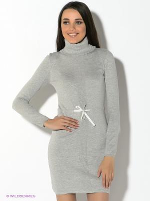 Платье Oodji. Цвет: светло-серый