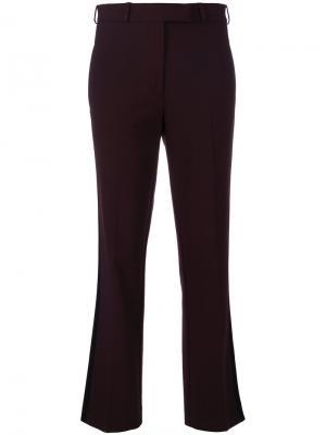 Укороченные брюки с лампасами Etro. Цвет: розовый и фиолетовый