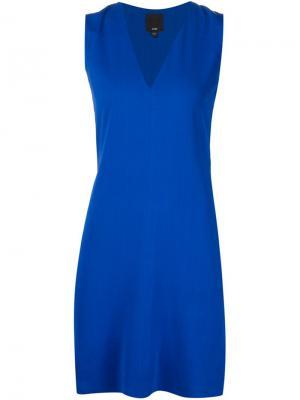 Платье без рукавов Ji Oh. Цвет: синий