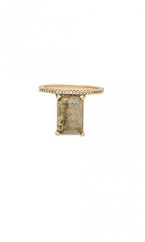 Наборное кольцо с изумрудом Melanie Auld. Цвет: металлический золотой