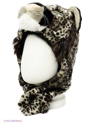 Шапка True Fur. Цвет: черный, серо-зеленый