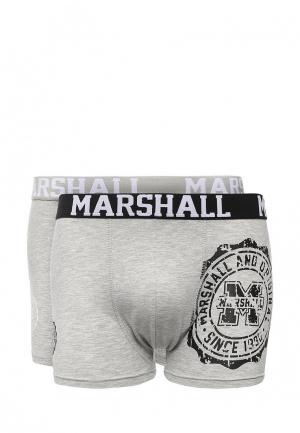 Комплект трусов 2 шт. Marshall Original. Цвет: серый
