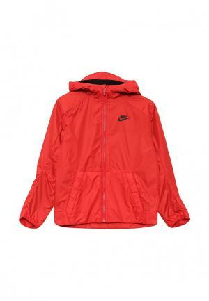 Куртка утепленная Nike. Цвет: красный