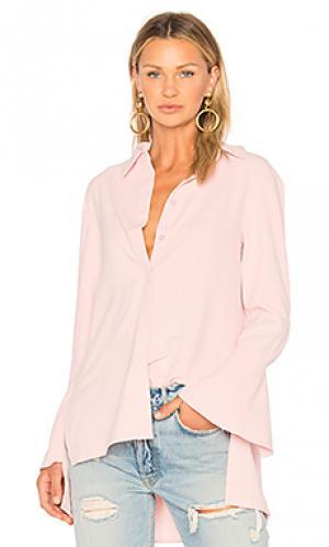 Рубашка с аппликацией сзади EDIT. Цвет: розовый
