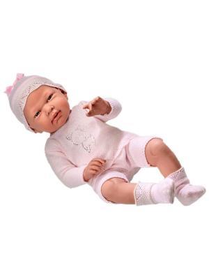 Кукла Arias  пупс в розовом со стразами, 52 см Arias.. Цвет: розовый