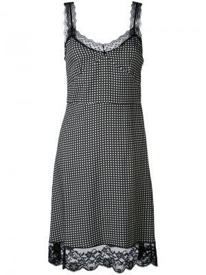 Платье на бретелях с кружевной отделкой Paul & Joe. Цвет: чёрный
