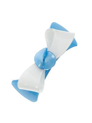 Заколка-автомат для волос Pretty Mania. Цвет: голубой, белый, серебристый