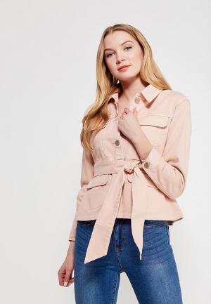 Куртка джинсовая Lost Ink Petite. Цвет: розовый