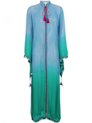 Платье омбре Fatima Talitha. Цвет: синий