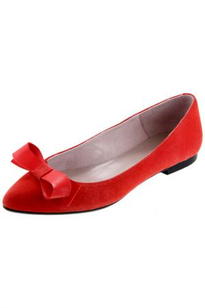 Балетки Sessa. Цвет: красный