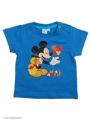 Футболка Mickey Mouse. Цвет: синий, лазурный, темно-синий