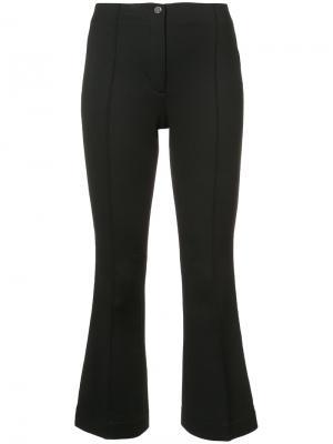Укороченные расклешенные брюки Helmut Lang. Цвет: чёрный