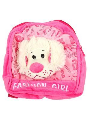 Собачка сумка,23 см Lapa House. Цвет: бежевый, розовый