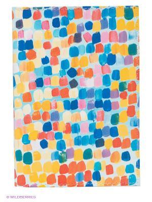 Обложка для паспорта Mitya Veselkov. Цвет: оранжевый, синий