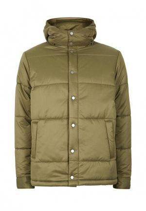 Куртка утепленная Topman. Цвет: хаки