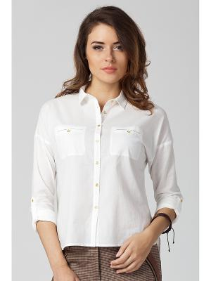 Блузка VILATTE. Цвет: белый