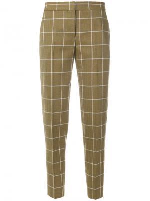 Классические брюки в клетку Paul Smith. Цвет: зелёный