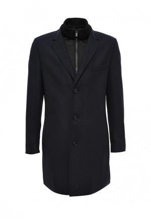Пальто Hugo Boss. Цвет: синий